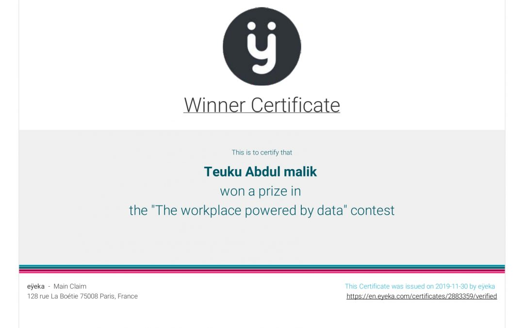 """""""The Workplace Powered by Data"""" Contest"""